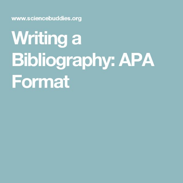 how to write bibliography in essays