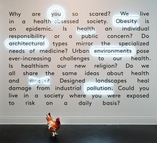 """Imperfect Health: The Medicalization of Architecture"" Credits: Giovanna Borasi & Mirko Zardini, Curators Exhibition design Jonathan Hares"