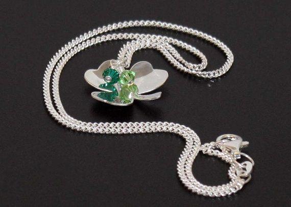Sterling Silver Shamrock, St. Patricks Day Pendant, Lucky Charm, Shamrock Necklace, Lucky Shamrock, Clover necklace, Shamrock pendant, charm...