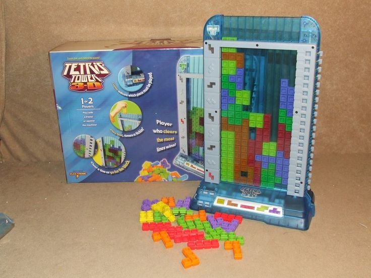 Electronic Tetris Tower 3D Boxed And Complete By Radica 2003 8  1 or 2 Players