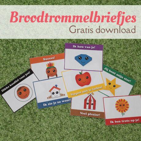 Gezellige briefjes voor in de broodtrommel -gratis download pdf