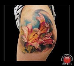 Lilies Tattoo , Artist@Dominik Szymkowiak, Art Line Tattoo Poznan