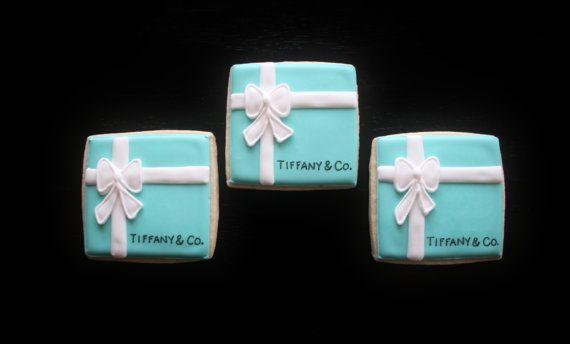 Tiffany  Co. Box cookies by oohlalabakingco on Etsy