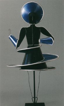 Triadisches Ballett (Triadic Ballet) is a ballet developed by Oskar Schlemmer. It premiered in Stuttgart, on 30 September 1922, with music composed by Paul Hindemith, after formative performances dating back to 1916, with the performers Elsa Hotzel and Albert Berger. The ballet became the most widely performed avant-garde artistic dance and while Schlemmer was at the Bauhaus from 1921 to 1929, the ballet toured, helping to spread the ethos of the Bauhaus.