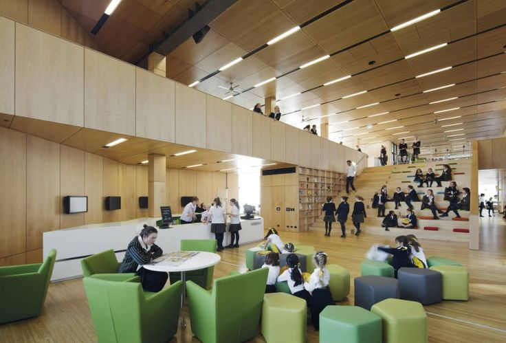 Ravenswood School for Girls / BVN - I love the architectural features that promote being social. | #DesignLUX Goes Back to School