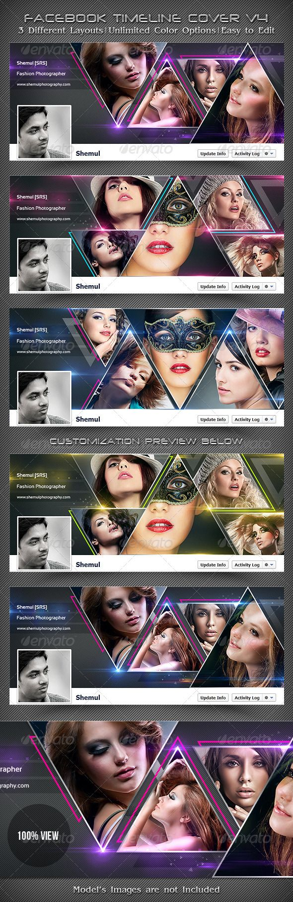Photographer's FB Timeline Cover V4  #GraphicRiver          Photographer's Facebook Timeline Covers V4  This is a Collection of 3 Creative, Unique, Sexy & Stylish Facebook Timeline Cover Template. All of these are very useful for designers, developers, general users & also Specially for Photographers. Show & Present your designs, photographs, images in a Clean, Elegant & Decent way. Boost up your fans & sales by putting these attractive templates on your Facebook Profile's Timeline or…