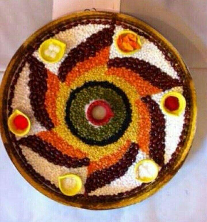 620 best rangoli images on pinterest rangoli ideas for Aarti thali decoration