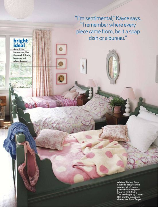 .sisters.Kayce Hugh, Shared Room, Girls Bedrooms, Kids Room, Girls Room, Twin Beds, Pink, Pottery Barn, Girl Rooms