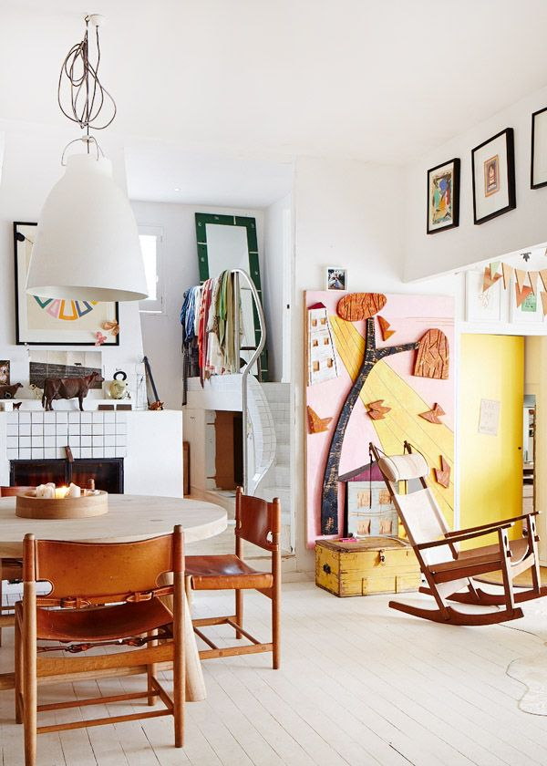 A Claireville house owned by Mark and Louella Tuckey featuring a few pieces from Vampt Vintage Design.