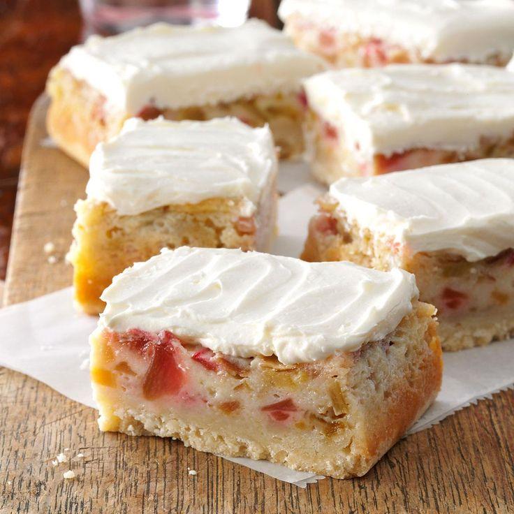 Rhubarb Dream Bars Taste Of Home