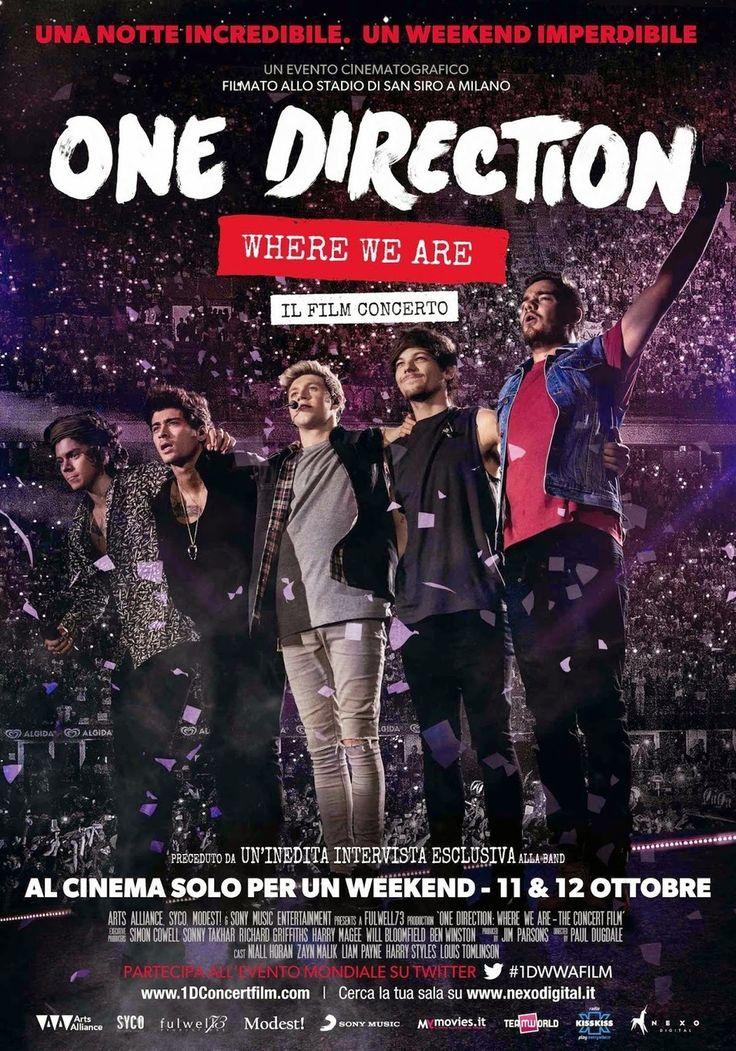 Eventi News 24: ONE DIRECTION: WHERE WE ARE IL FILM CONCERTO AL CINEMA: aprono oggi le prevendite@OneDirection#1DWWAFilm