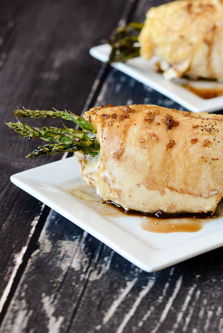Gluten Free Dairy Free Asparagus Stuffed Chicken Breast via @onceamonthmeals