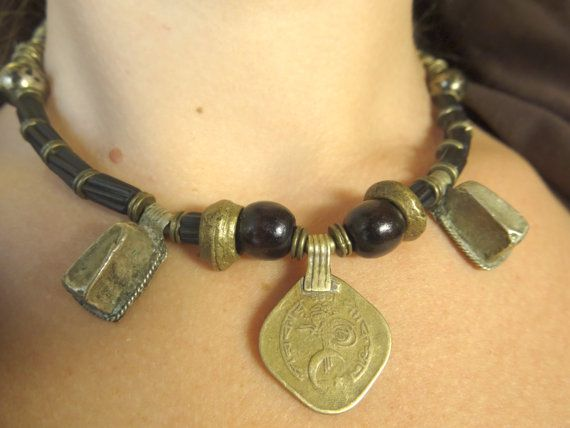 Tribal Fusion Necklace by TarotNoir on Etsy