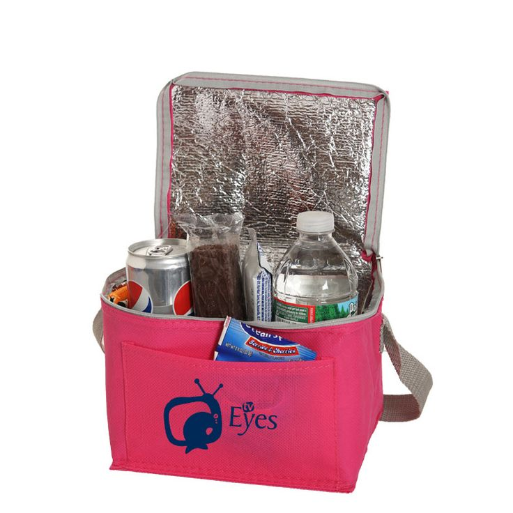 "#TCB107 - Non-Woven Six Pack Lunch Cooler Bag (8""W x 6""H x 6""D)"