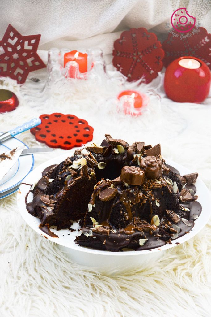 Persimmon Chocolate Bundt Cake [With Video]
