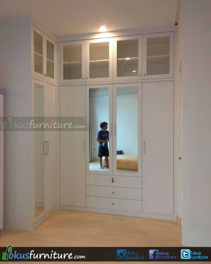 """65 Suka, 5 Komentar - Furniture custom minimalis (@fokusfurniture) di Instagram: """"lemari pakaian di Green lake city Cipondoh Tangerang.  #Repeatorder #cipondoh #greenlakecity…"""""""