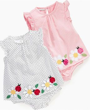 First Impressions Baby Bodysuit, Baby Girls Flower Border Sunsuit on shopstyle.com