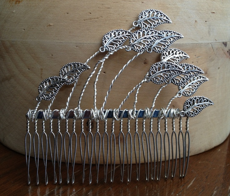 1920s inspired hair comb. Available from my Etsy shop