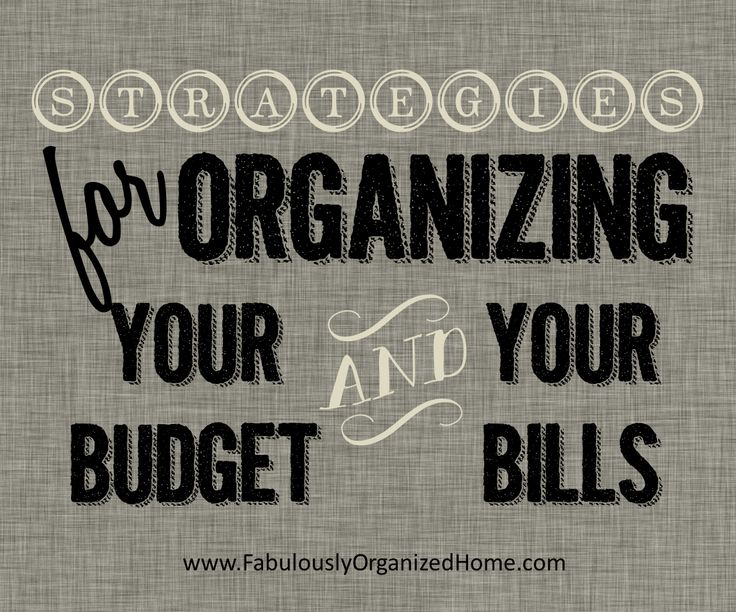the weekend organizer {finance + bill organization}   Fabulously Organized Home