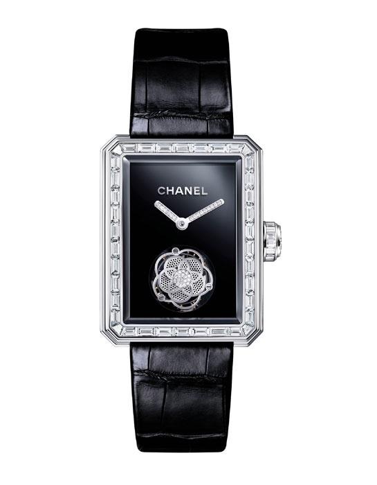 La montre Première Tourbillon Volant de Chanel http://www.vogue.fr/joaillerie/le-bijou-du-jour/diaporama/la-montre-premiere-tourbillon-volant-de-chanel/10599#!la-montre-premiere-tourbillon-volant-de-chanel-grand-prix-d-039-horlogerie-de-geneve