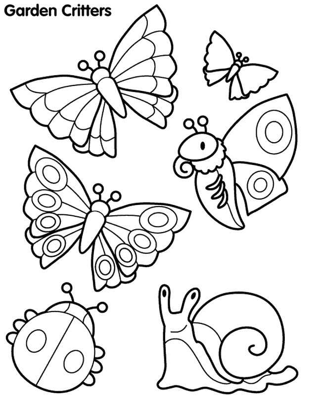 you can print this butterfly and other garden critters coloring pages and color it with the