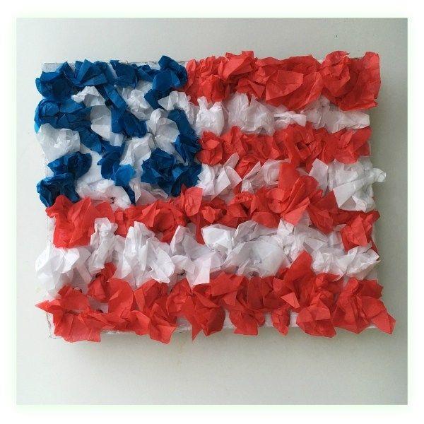 Patriotic Tissue Crafts   #crafts #diy #kidsactivities
