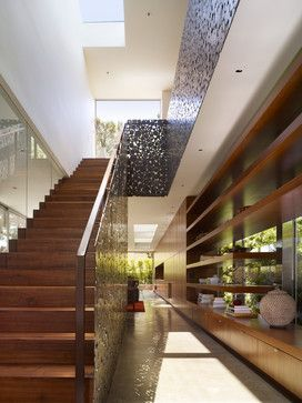 Walnut Residence contemporary staircase