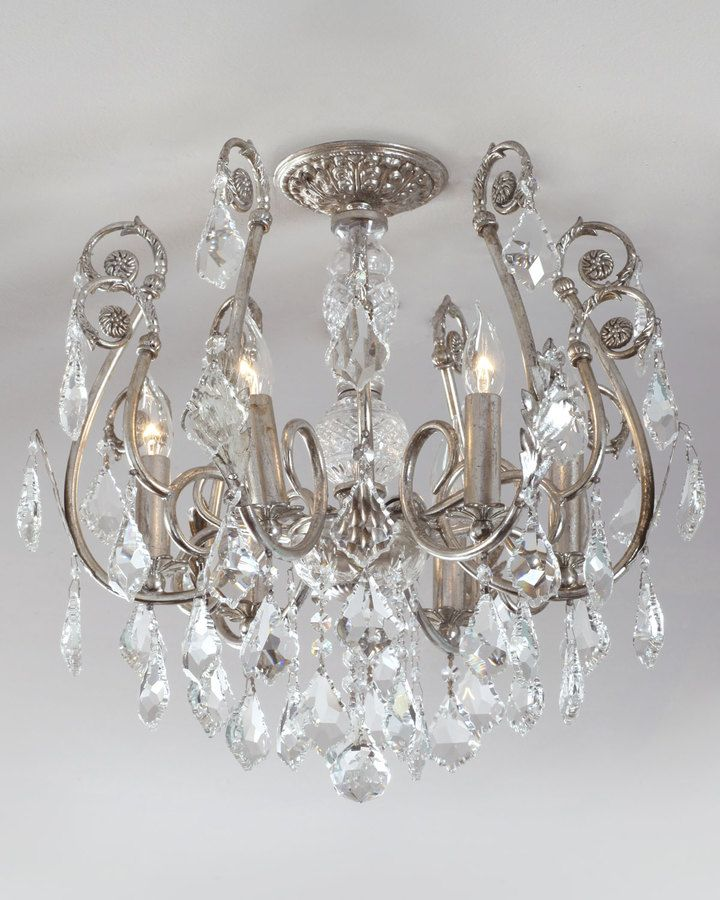 Neiman Marcus Mini Chandelier Flushmount Light Fixture