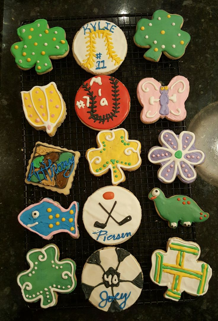 Decorated shortbread cut outs for the kids