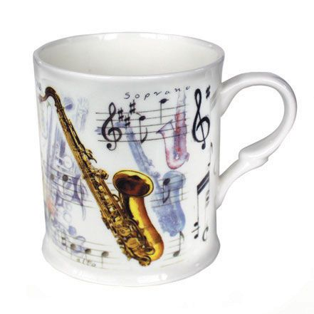 Bone China Mug: Saxophone. £8.99