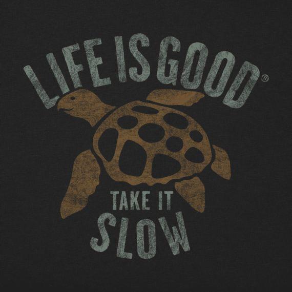 Men's Slow Turtle Long Sleeve Crusher Tee