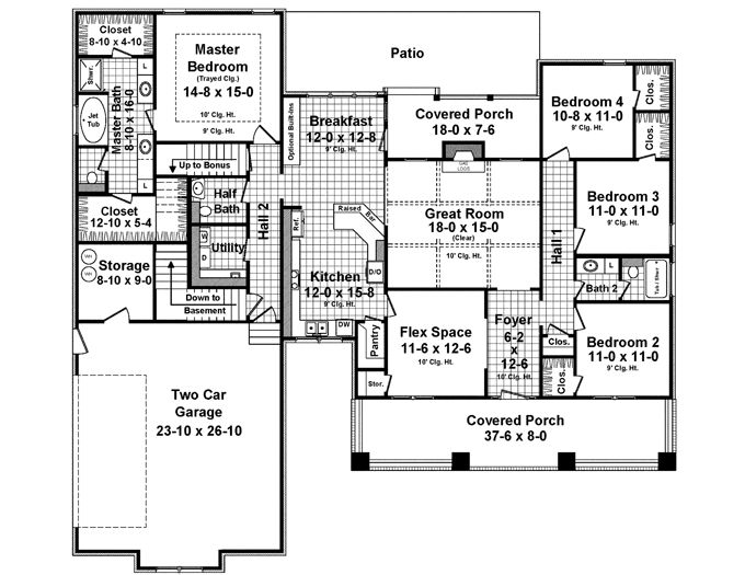 32 Best Images About House Plans Under 2500 Sq Ft On