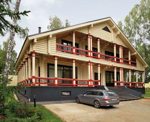 Роскошный дом из оцилиндрованного бревна   Дома из оцилиндрованного бревна   Журнал «Деревянные дома»
