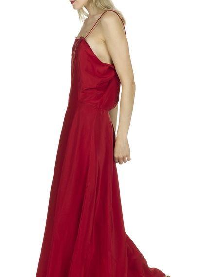 Robe longue en soie Rouge by VANESSA BRUNO