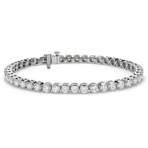 Blue Nile Premier Diamond Tennis Bracelet (55,090 AED) ❤ liked on Polyvore featuring jewelry, bracelets, diamond jewellery, tennis bracelet, blue nile, diamond jewelry and blue nile jewelry
