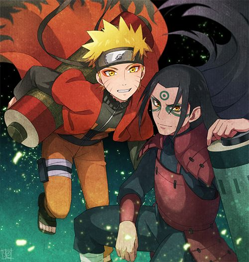 Hashirama and Naruto, sage mode