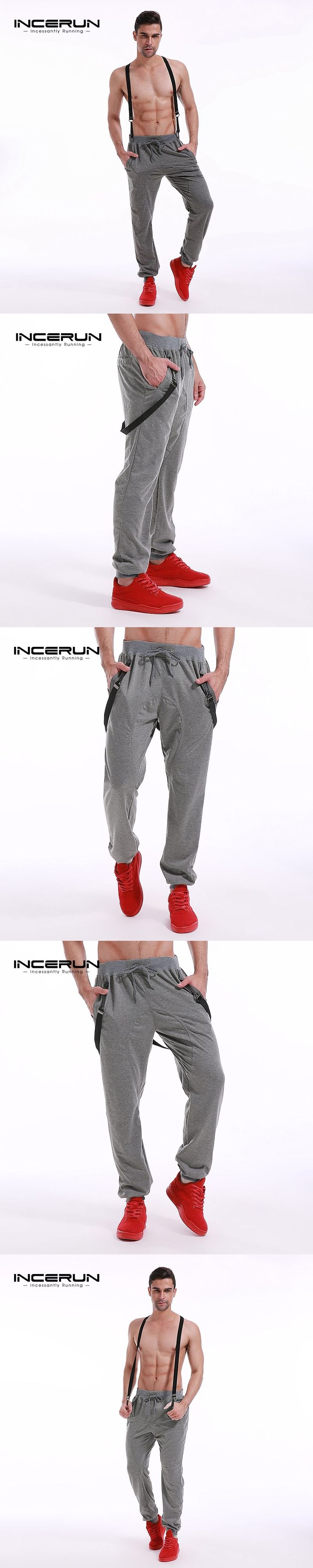 Sweatpants Men Joggers Pant Casual Loose Workout Pants With Belt Autumn Overalls Mens Tracksuit Trousers Gyms Fashion 2017 New
