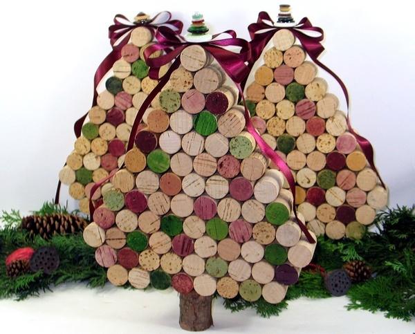 Wine Cork Christmas Trees.