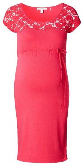 Ženska haljina kratkih rukava za trudnice ESPRIT MATERNITY - ružičasta