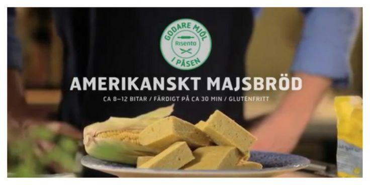 Amerikanskt majsbröd – Receptfilm i samarbete med Risenta - Nillas Kitchen