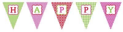 Free Printable: Happy Birthday Banner, Girl Version and Boy Version