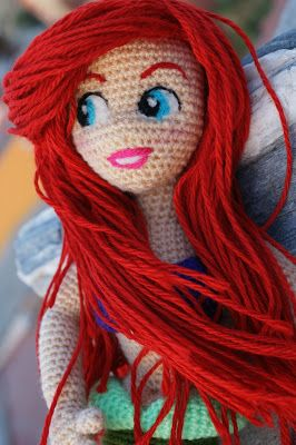 Mi version amigurumi de la sirenita #Ariel #lasirenita #amigurumi…