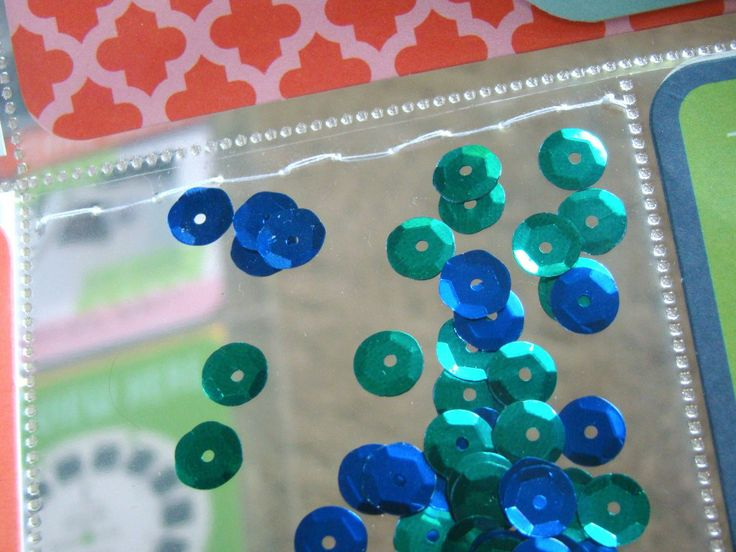 Sequins pockets for Project Life