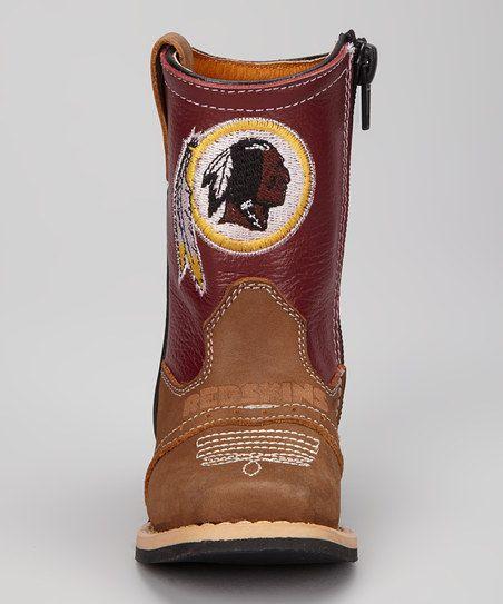 Washington Redskins Quarterback Roper Cowboy Boot - Kids