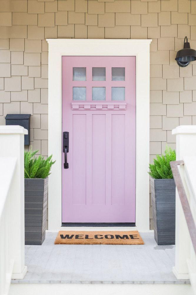 Whitewashed Decor Pops Of Color Austin Tx Home Tour Pink Front