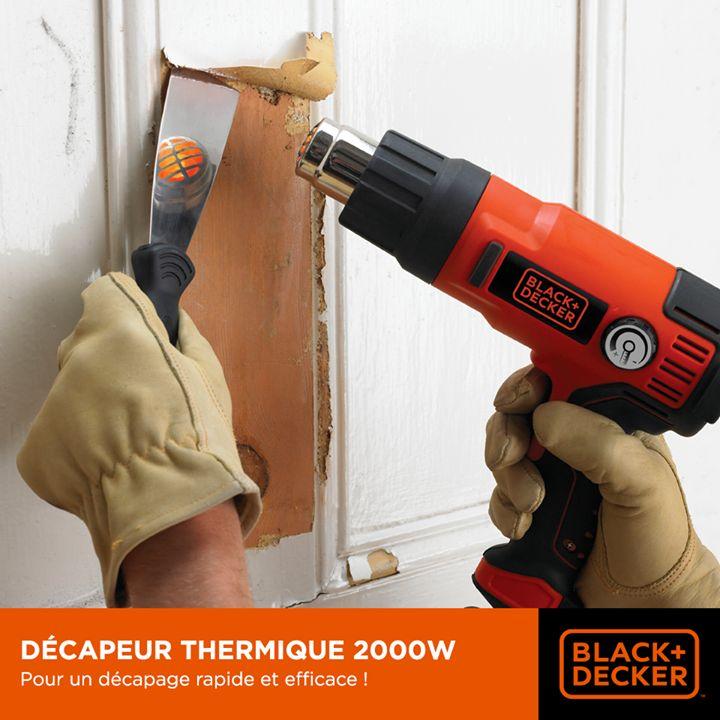 Idéal pour retirer la peinture, le vernis, les adhésifs et bien plus encore... Découvrez la puissance de notre décapeur thermique. #Bricolage #Outils