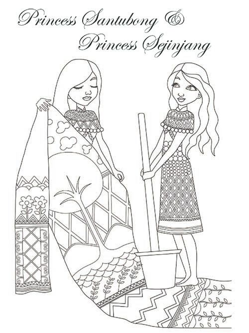 Legendary Princesses Of Malaysia Colouring Book