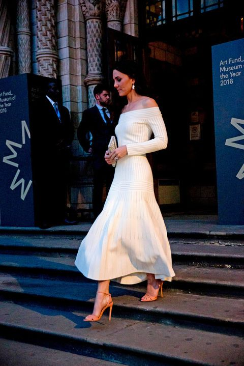 Kate attended the gala the Natural History Museum wearing a white dress from a new designer, Barbara Casasola.