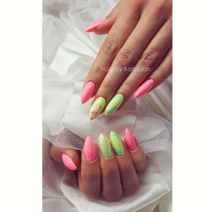 flaming nails
