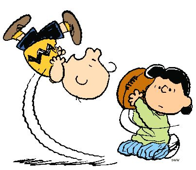 They are both persistant.  I have a video that shows Charlie Brown finally kicking the football.  Congratulations!